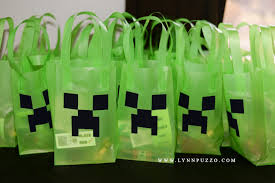 minecraft goody bags puzzo photography aiden s 8th birthday party minecraft