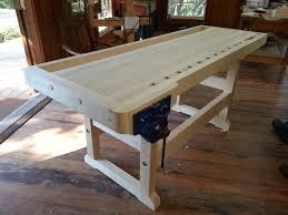 Woodworking Bench Vise Installation by Completed Workbench Class Heritage Of Woodworking Blog