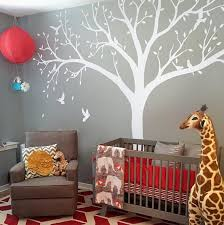 Nursery Wall Mural Decals High 2 4m Bird Baby Cot Side Tree Nursery Wall Decals