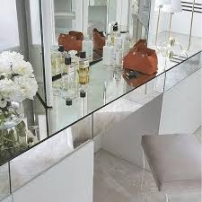 Lucite Vanity Table Mirrored Dressing Table Design Ideas