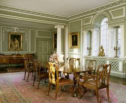 The Dining Room Taken From The Southwest Corner Showing The - Chippendale dining room