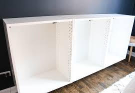 ikea credenza hack how to build a fauxdenza for added storage and style the diy