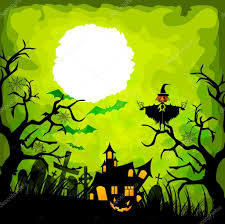 the halloween tree background halloween green background u2014 stock vector ngocdai86 52634971