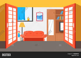house room vector illustration background flat home interior