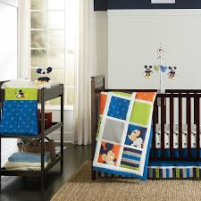 Mickey Mouse Clubhouse Bedroom Decor Blue Mickey Mouse Crib Beddingcotton Bedding Pictures Nursery