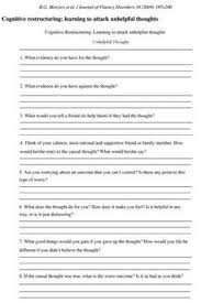 beliefs and cognitive distortions recovery worksheets