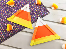 simple candy corn craft for kids about a mom