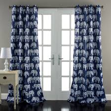 Blue Window Curtains by