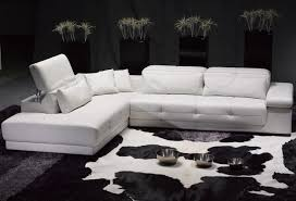sofas trendy white leather sectional sofas can brighten your
