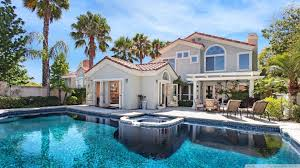 houses cool pool beautiful backyard swimming house palms high