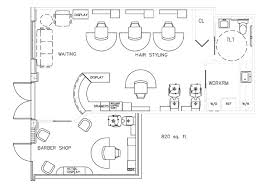 plan layout barber shop floor plan design layout 820 square foot