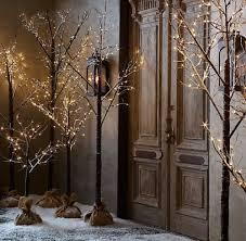 snowy twig tree led pre lit twig tree 200cm 6ft indoor