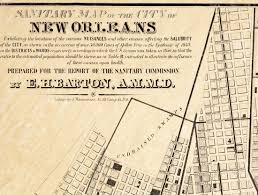 Map Of New Orleans Districts by Sanitary Map Of New Orleans Epidemiology Science Old Maps And