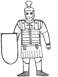kids drawing ancient rome soldier coloring netart