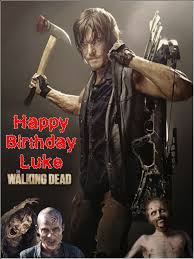 a4 daryl dixon the walking dead personalised edible icing or wafer