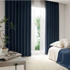 peaceful european style fiber flocking curtains in navy buy dark