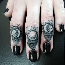 moon phases on fingers pairodicetattoos com