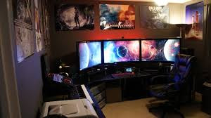 Gaming Station Computer Desk Cool Computer Setups With Gaming Station Computer Desk Design And