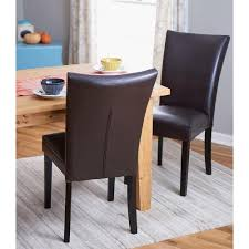 Home Decorators Dining Chairs Home Decorators Collection Brown Parsons Dining Chair Set Of