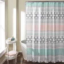 Elephant Curtains For Nursery Elephant Stripe Shower Curtain Turquoise Pink Walmart Com