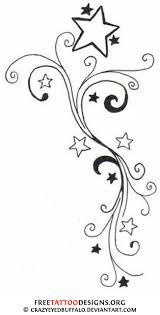 tribal music notes and nautical star tattoo designs photo 3