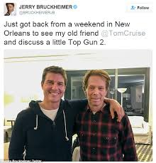 Tom Cruise Meme - jerry bruckheimer met with tom cruise to discuss a little top gun