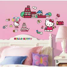 cute pink bedroom ideas for toddler and teenage girls vizmini beautiful hello kitty wall decals pink paint color for teenage bedroom