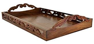amazon com souvnear premium quality wooden trays with handles