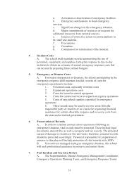 emergency operation plan template eliolera com