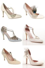 these gorgeous bridal shoes would be perfect for a 1920s art deco