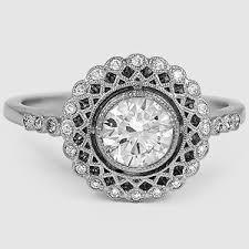 daimond ring vintage halo ring alvadora brilliant earth