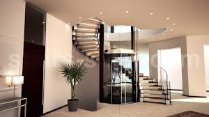 architecture amazing stair design with glass railing and indoor