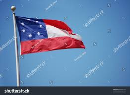 Confederate States Flags First National Flag Confederate States America Stock Photo
