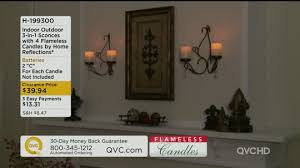 Flameless Candle Wall Sconce Indoor Outdoor 3 In 1 Sconces W 4 Flameless Candles By Home