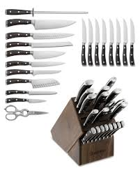 Kitchen Knives Wusthof Wüsthof Ikon Blackwood 20 Knife Block Set Williams Sonoma
