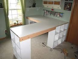 Desk L Diy Diy L Shape Desk With Ikea Like Cubbies Diy Furniture