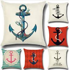 marine animal cotton linen pillow case sofa car throw cushion