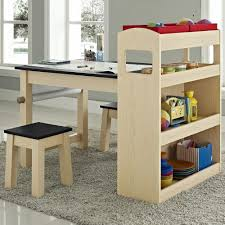 activity table with storage kids maple wood activity table with two stools overstock com