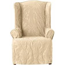 Sure Fit Club Chair Slipcovers Sure Fit Matelasse Damask Wing Chair Slipcover Walmart Com