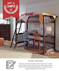 Ashley Furniture Bunk Beds With Desk Strenton Twin Bunk Bed And Desk Back To Campus Style Back To