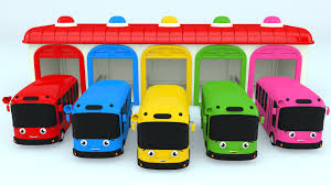 colors children learn color bus toy colours kids
