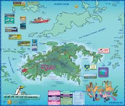 Treasure Maps Map Of St John Us Virgin Islands Island Treasure Maps