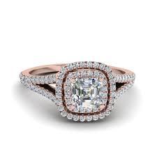 asscher cut diamond engagement rings 14k rose gold asscher cut engagement rings fascinating diamonds