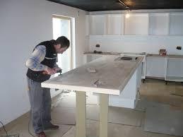 fabriquer plan de travail cuisine fabrication plan de travail idées décoration intérieure