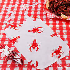crawfish party supplies seafood bib diy cajun crawfish boil ideas mardi gras party