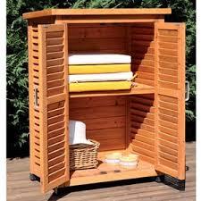 armadietto esterno armadietto mobile mobiletto da giardino in legno 1 ripiano e 2