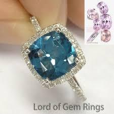 topaz engagement ring 429 cushion london blue topaz engagement ring pave diamond wedding