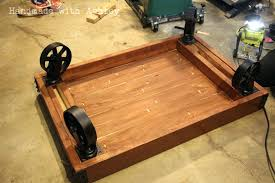 coffee table with caster wheels industrial cart coffee table diy attaching the caster wheels coffee