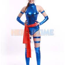 sale blue shiny female psylocke ninja costume free shipping