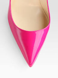 christian louboutin pigalle plato patent leather point toe